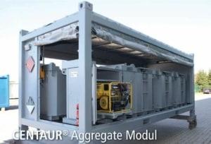 Transport flat with aggregat modul